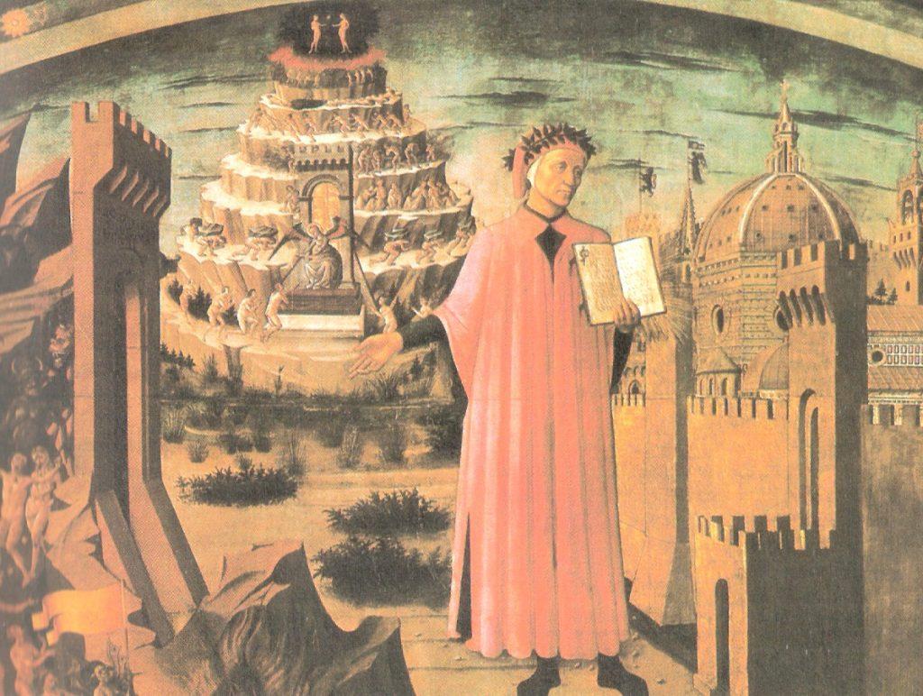 Dante y su poema, de Domingo di di Francesco, llamdo Michelino da Besozzo