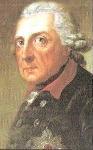 Retrato de Federico II el Grande de Prusia