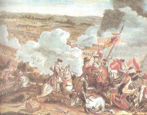 Representación de la batalla de Newmark, en Silesia