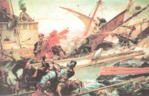 Cuadro de la Batalla de Lepanto