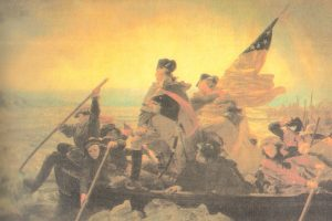 George Whashington cruzando el Delaware