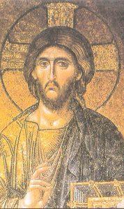 Mosaico Bizantino de Jesucristo del interior de la Basilica de Santa Sofia