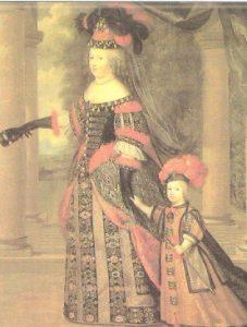 Maria Teresa de Austria y su hijo Luis XIV