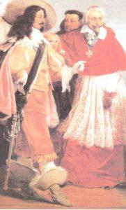 Cardenal Richelieu junto a Luis XIII
