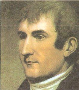 Retrato del explorador Meriwter Lewis,