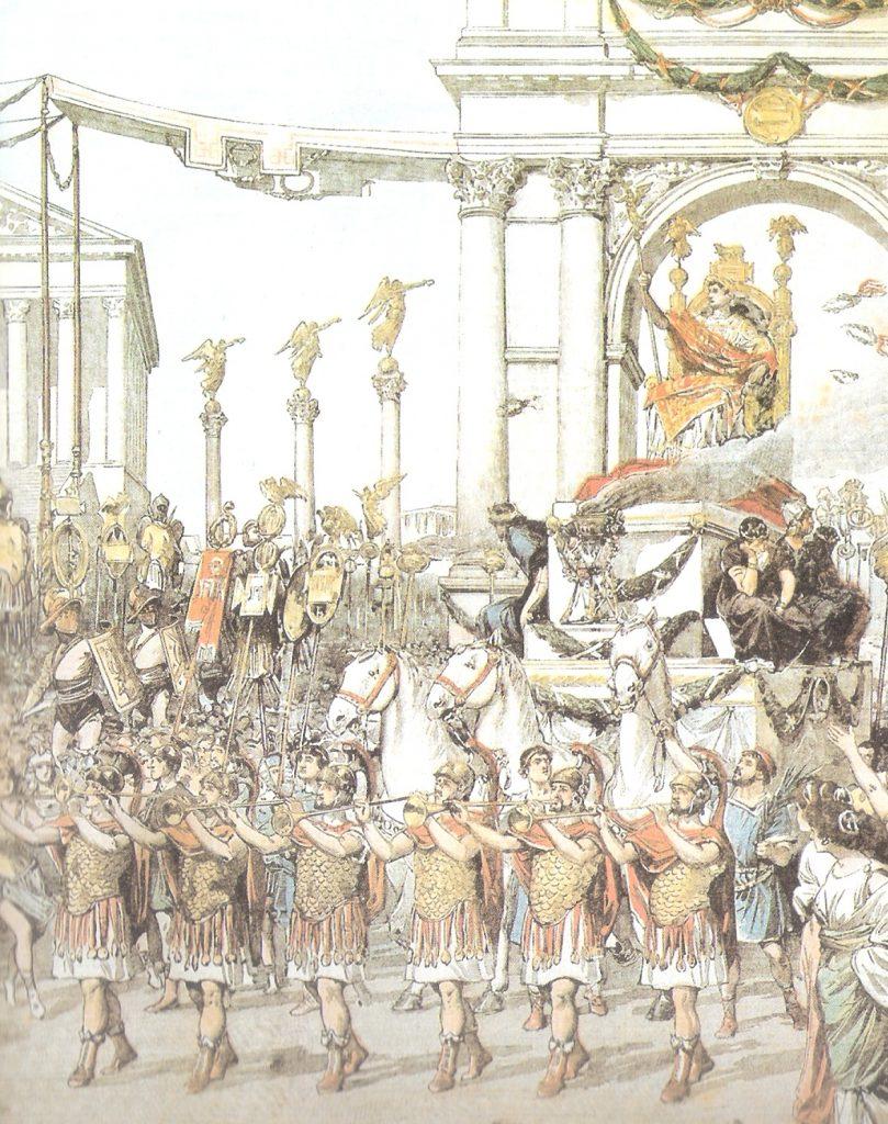 Entrada Triunfante de Julio Cesar a Roma