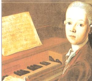 Retrato de Mozart a los Ocho Años