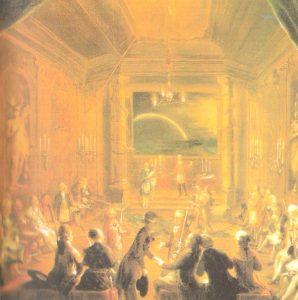 Mozart en una Reunión Logía Masónica de viena