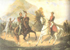Bolivar y Sucre en Desaguaderos