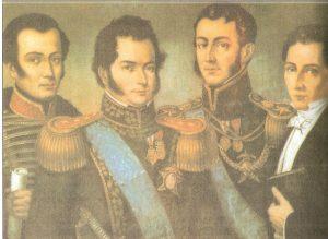 O´Higgins junto con Patriotas fundadores Chilenos